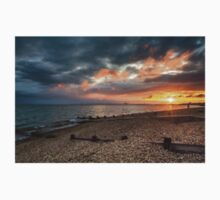 Sunset on Hill Head Beach One Piece - Short Sleeve