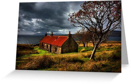 Ruin at Suisinish, Isle of Skye. North West Scotland. by PhotosEcosse