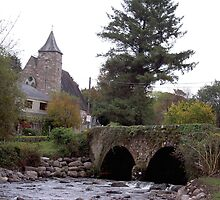 Nire Valley-River/Bridge/Church[Please View Larger] by Pat Duggan