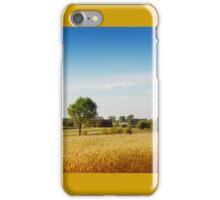 Rural wheat field view iPhone Case/Skin
