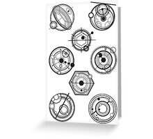 Gallifreyan Mix Greeting Card