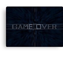 Game Over - zoom Canvas Print
