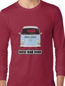 Best Dad Ever Pale Blue Early Bay Long Sleeve T-Shirt
