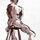 Man on Stool by Mark Ramstead