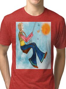 Swing With Butterflies Tri-blend T-Shirt