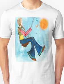 Swing With Butterflies Unisex T-Shirt