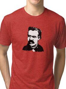 Fredrich Nietzsche. Tri-blend T-Shirt