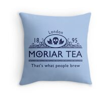 MoriarTea 2 Blue Ed. Throw Pillow