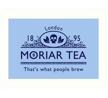 MoriarTea 2 Blue Ed. Art Print