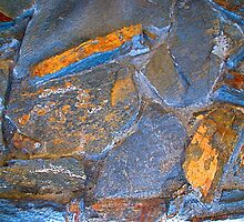 Blue Stone Abstract by Julie Marks