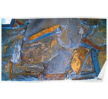 Blue Stone Abstract Poster