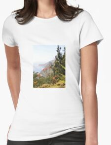 Big Sur - Floral Womens Fitted T-Shirt