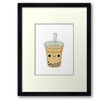 Cute Bubble Tea Framed Print