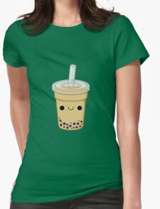 Cute Bubble Tea Womens Fitted T-Shirt