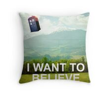 The Doctor is Out There Throw Pillow