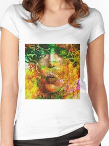 """ Mother Nature "" Women's Fitted Scoop T-Shirt"