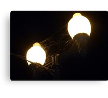 Street Lights and Spider Webs Canvas Print