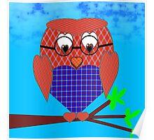 Tartan and Hearts Owl Poster