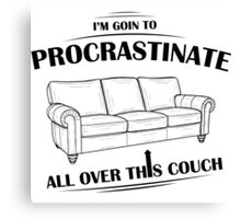 Procrastinating Couch Canvas Print