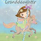 Granddaughter Birthday With A Girl Riding A Carousel Horse by Moonlake