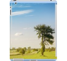 Rural grassland trees view iPad Case/Skin