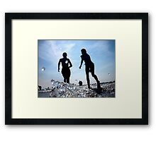 Silver Sun & Fun Framed Print