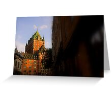 Golden Light- Chateau Frontenac Greeting Card