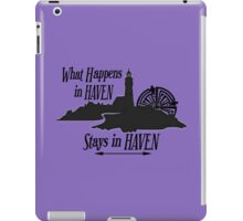What Happens In Haven Lighthouse Black Logo iPad Case/Skin