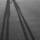shadows holding hands by Jake Sherman