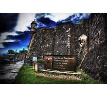 Paseo del Morro, Old San Juan, Puerto Rico Photographic Print