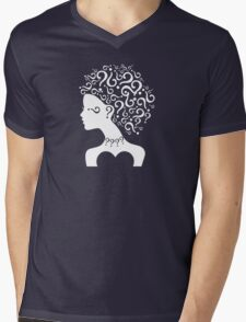 Girl With Question Mark Hair Mens V-Neck T-Shirt