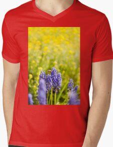 blue Muscari Mill flower Mens V-Neck T-Shirt