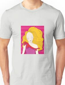Girl With Big Hair Unisex T-Shirt