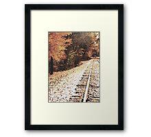 Autumn Tracks 2 Framed Print