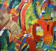 Garden Maze Abstract by Sandi Lansing