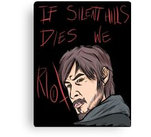 silent hills  riot Canvas Print
