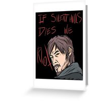 silent hills  riot Greeting Card