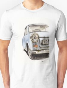 Old Blue Car Watercolor T-Shirt