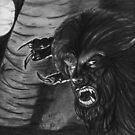 Benicio Wolfman Del Toro by Carliss Mora