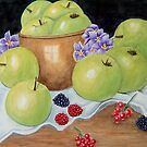 Apples and Berries  by Ilunia Felczer