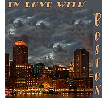 In love with Boston! Photographic Print