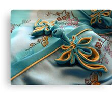 The chinese flower gown Canvas Print