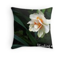 Shaded Daffodil Throw Pillow