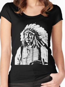 CHIEF RED CLOUD Women's Fitted Scoop T-Shirt