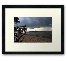 A rainy night Framed Print
