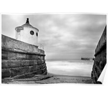 Whitby Sea Defences, North Yorkshire Poster
