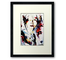 Beauty lies in imperfection, abstract portrait Framed Print