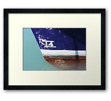 Waterline, Lyttelton Harbour Framed Print