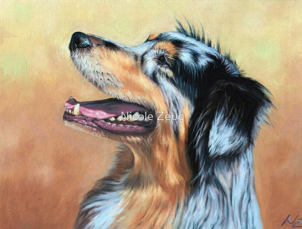 Australian Shepherd Dog by Nicole Zeug