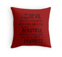 Devil Throw Pillow